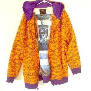 Neff Silk Lined Airplane Hooded Sweatshirt